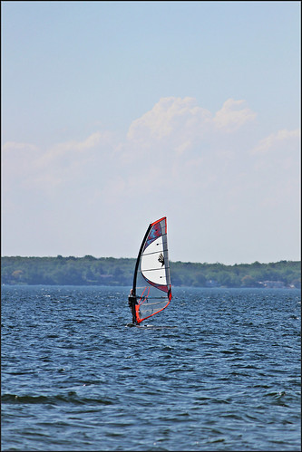 Wind Surfing on Lake Mendota