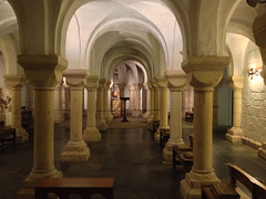 The crypt of Worcester Cathedral (AJK Photography) Tags: england church cathedral crypt worcester