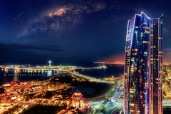 ABU DHABI GALACTIC (Titanium007) Tags: sunset night fineart digitalart uae wallart fantasy abudhabi imagination bluehour unitedarabemirates lightpollution starrynight milkyway imaginaryworld emiratespalacehotel starrysky urbancityscape abudhabiskyline abudhabicityscape abudhabimarinamall abudhabihotels etihadtowers abudhabiarchitecture abudhabitourism visitabudhabi abudhabilandmarks abudhabitransportation abudhabiroads abudhabiaerialphotography abudhabiurbanphotography