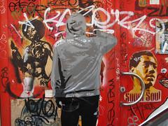 Dog (Tian (Chris a.k.a)) Tags: street urban streetart france pasteup art vintage painting stencil paint acrylic paste wheat tian spray painter lemans urbain pochoir †ian