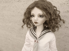 .:: Armand ::. (Bunraku Doll) Tags: boy cute sepia doll curls le bjd  custom dollfie luts limited sd10 limitededition armand spica dsir ducasse sailoroutfit  sailordress juniordelf bunrakudollfaceup