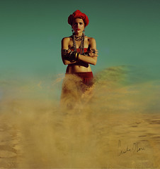 genie. (Cristina Otero Photography) Tags: sand desert magic cristina forgotten creature mythology myth genie pascual otero mythological senjuhime