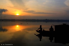 good morning! (manwar2010) Tags: art sunrise canon river geotagged boat asia flickr tag award explore chrome come geo geotag ganga explored earthasia uluberia
