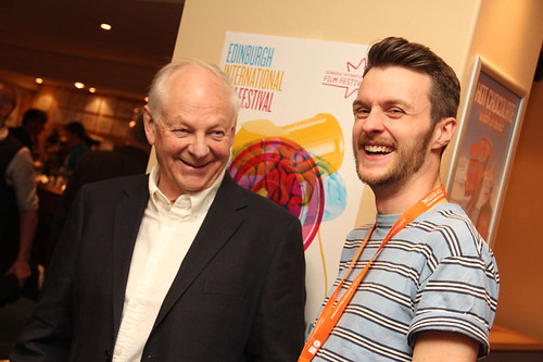 Richard Williams and Adam Scott at a pre-awards drinks reception