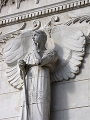 Pensive (K.G.Hawes) Tags: france church statue stone angel de french wings catholic cathedral lyon basilica wing creative churches statues commons christian cc angels creativecommons sword christianity catholicism notre dame winged angelic lyons basilique fourviere chretien fourvière lyonnaise lyonnais notredamedefourviere