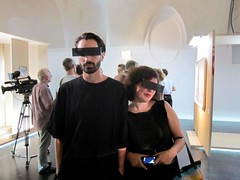 FACELESS opening at MQ Vienna (girl_onthe_les) Tags: vienna mq faceless blackbar bogomir mqwien anonoymous addiewagenknecht blackbarsunglasses freiraum21 anonomity blackbarframes