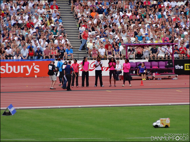 Jessica Ennis-Hill, Katarina Johnson-Thompson and Lorraine Ugen