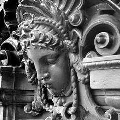 fontaine Paris (mathieustern) Tags: street portrait woman paris france art girl face statue metal french photo femme fontaine parisian visage parisjetaime