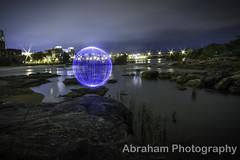 Globe (abrahamphotography2010) Tags: city river globe led