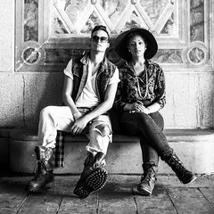 Denitia and Sene (MTBakkjen) Tags: nyc newyorkcity portrait blackandwhite newyork contrast photography photo blackwhite centralpark blackwhitephotos