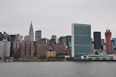 Chrysler Building & United Nations (Ryan Hadley) Tags: newyorkcity usa newyork skyline river manhattan spire unitednations eastriver newyorkskyline chryslerbuilding skyscaper rivercruise unitednationsheadquarters