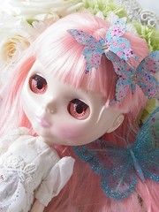 Blythe and flower