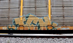 ICH (INTREPID IMAGES) Tags: street railroad color art train bench circle t graffiti fan paint steel painted sony tracks rail railway trains tags images 63 yme railcar intrepid writer boxcar graff grab ich freight rolling ichabod itd sfl gr8 paintedtrains fr8 benching intrepidimages