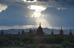 MM071 Pagodas at dusk - Bagan (VesperTokyo) Tags: light sky tower evening pagoda burma myanmar paya burmese buddhisttemple パゴダ 塔 仏教 ミャンマー oldbagan theravadabuddhism hinayana buddhistarchitecture 仏教寺院 nikond3 myanmarese 小乗仏教 上座部仏教 lesservehicle 仏教建築 パヤ jozabuddhism