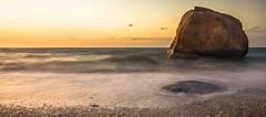 Yellow Light (justinababcock) Tags: sunset sea sun beach rock nikon d7000