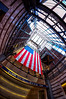 Happy Veterans Day (Gary Burke.) Tags: city nyc newyorkcity ny newyork proud america photoshop canon subway eos rebel manhattan flag 34thstreet americanflag wideangle patriotic pride fisheye midtown american trainstation mta gothamist dslr lirr hdr pennstation 7thavenue veteransday fisheyelens oldglory uwa longislandrailroad pennsylvaniastation photomatix garyburke cs5 klingon65 t1i canoneosrebelt1i