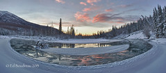 River Bend (Ed Boudreau) Tags: winter blackandwhite alaska river landscape panoramic eagleriver riverbend chugach alaskamountains alaskalandscape mygearandme mygearandmepremium mygearandmebronze alaskariver