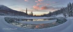 River Bend (Ed Boudreau) Tags: winter blackandwhite alaska river landscape panoramic eagleriver riverbend chugach alaskamountains alaskalandscape mygearandme mygearandmepremium mygearandmebronze alaskariver