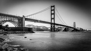 The Golden Gate Bridge (BW)