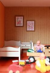 Left corner... (*blythe-berlin*) Tags: orange vintage göteborg toys furniture gothenburg 70s möbel byebye spielzeug dollhouse puppenhaus lundby cacodolls biegepuppen doll´shouse 70zigerjahre