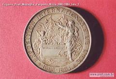 Eugenio Prati Medaglia d'argento Nizza 1883-1884 lato 1