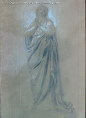 Eugenio Prati Immacolata acquerello Collezione privata