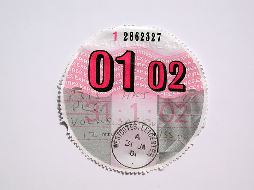"tax disc • <a style=""font-size:0.8em;"" href=""http://www.flickr.com/photos/61714195@N00/11736368864/"" target=""_blank"">View on Flickr</a>"