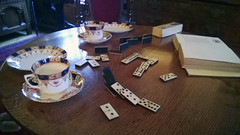 Dominos? (Matty Ring) Tags: house cup table tea clinton room games tudor dominos manor baddesley