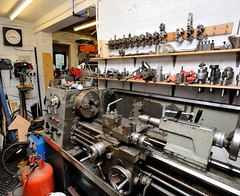 My Man Cave (Jez B) Tags: mill vertical metal live garage shed machine engineering hobby steam master bridgeport lc clone press 112 turret colchester 2500 metalworking milling lathe hydraulic aud boxford semco