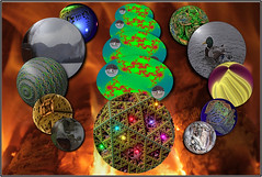 The Planetary Furnace ... (Colink321) Tags: abstract boat duck log fantasy planets fractal planetary abstraction supernova furnace wayout whoknows galactic lakescape itsfriday mandelbulber colink321 theplanetaryfurnace definitelynotmuchwildlife