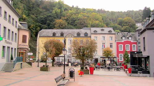 Main square, Clervaux, Luxembourg