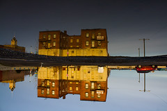 See differently (beyondboundariesphotography) Tags: old city reflection building water upsidedown cityscapes desolate