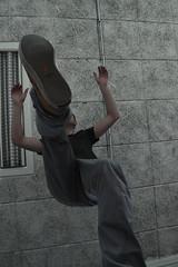 Jump from underneath (Lisa Xiu Kok) Tags: school guy amsterdam fun one weird spring high jump view under underneath