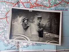 On The Road. (Mr_B_Flneur) Tags: hat car cigarette smoking studioportrait strawboater widebrimmedhat