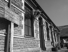 Cymmer Afan Station Building (2) (Fragglehound) Tags: history monochrome station wales architecture railway cymmer twitter
