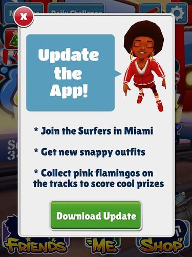 Subway Surfers Update App: screenshots, UI