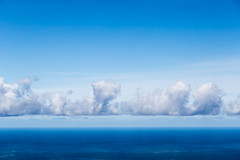 Sky, clouds, sea