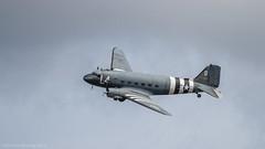 Farnborough 2014 Press Day - Douglas DC3 (markhortonphotography) Tags: plane canon display aviation surrey airshow 7d farnborough surreyheath 100400l eos7d fia2014