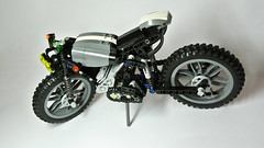 Three-cylinder Caf Racer (hajdekr) Tags: caf lego motorcycles motorbike technic moto motorcycle vehicle racer threecylinder