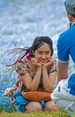 Posing In Park (aeschylus18917) Tags: blue woman flower cute nature girl beautiful smile japan posing   ibaraki 80400mm babyblueeyes nemophilamenziesii boraginaceae hitachinaka ibarakiken     hitachinakashi hydrophylloideae hitachiseasidepark danielruyle aeschylus18917 danruyle druyle   kokueihitachikaihinken
