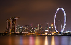 Singapre Landscape (ChOi Photos) Tags: water night marina landscape bay flyer sand singapore cityscape nightscape mbs