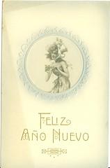"""Tarjeta postal: """"Feliz Año Nuevo."""" (gubama) Tags: mujer postcard postal feliz año nuevo postale tarjeta"""