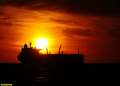 12-28-14EndOfDay (mcshots) Tags: ocean california winter sunset sea sky usa sun water clouds evening coast ship stock socal mcshots tanker elsegundo oiltanker losangelescounty