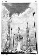 VEGA VV04 IXV Mission (twinklespinalot) Tags: art illustration pencil europe space rocket vega graphite esa spaceexploration spaceplane vv04 ixv