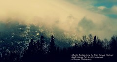 Alberta's Rockies along the Trans-Canada Highway (Lensbug Photography) Tags: canada nature landscape rockies nationalpark highway alberta banff transcanada banffnationalpark westerncanada foggymountains