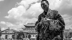 (Anwen2010) Tags: china street bw monochrome shangrila yunnan ricohgr