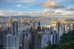 Hong Kong (Jeremy Flavien | jeremyflavien.com) Tags: china sunset hk port rouge harbor soleil coucher peak victoria hong kong  bleue