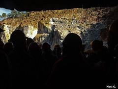 Saliendo a la luz (Nati C.) Tags: contraluz andaluca minas gente riotinto personas