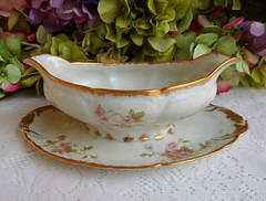 Vintage Limoges Porcelain Sauce Boat ~ Roses ~ Gold Gilt (Donna's Collectables) Tags: roses vintage gold boat sauce porcelain ~ gilt limoges