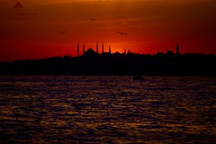 Sunset,Silhouette and Istanbul (Halil Sopaolu HN I Photography) Tags: canon canoneos6d canonphotography canondsrl canonllenses colorfull red mosque sultanahmetmosque europeanside eos bestshot best sea travel architecture turkey telephoto yellow skyline sky cityscape dusk buildings outdoor kadky istanbulfotoraflar follow love color monfrotto photography photofday photo copyright sunset sunday sun adobephotoshopcc2015 asiaside silhouettes sultanahmetcamii 6d flickr flickrphoto likeforlike gn beach halil2016 historicalbuilding kadraj like4like like landscape lights lihgt istanbul visit nicepicture nice